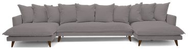 denna chaise sectional %283 piece%29 taylor felt grey