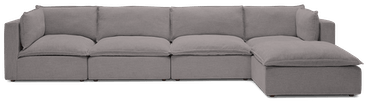 haine modular grand sectional taylor felt grey