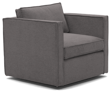 dune swivel chair taylor felt grey