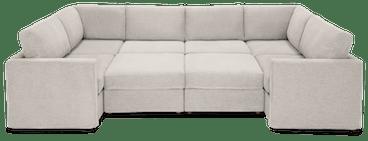 notch modular oversized sectional %288 piece%29 merit dove