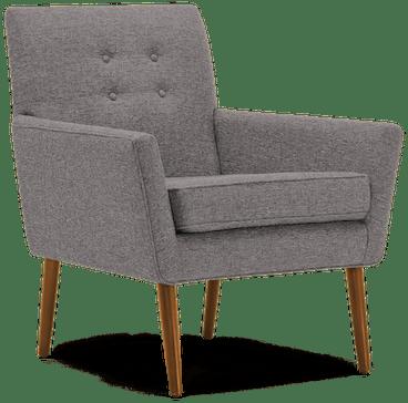 burns chair taylor felt grey