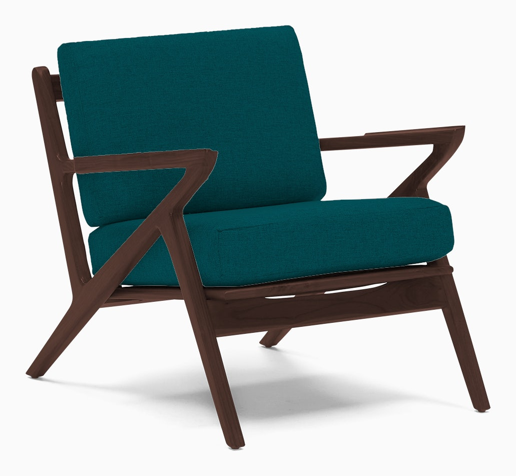 soto concave arm chair lucky turquoise