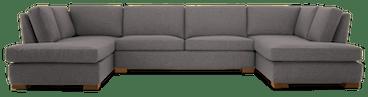 anton bumper sectional %283 piece%29 taylor felt grey