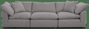 bryant modular sofa %283 piece%29 taylor felt grey
