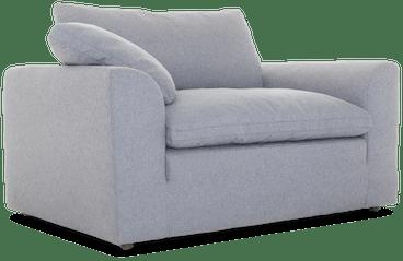 bryant chair and half taylor felt grey