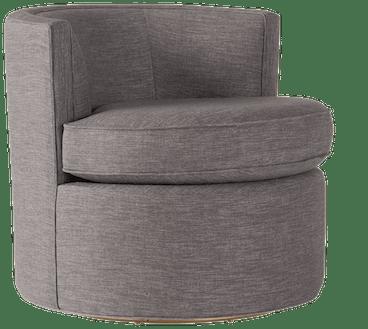 carly swivel chair taylor felt grey
