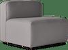 logan armless chair taylor felt grey