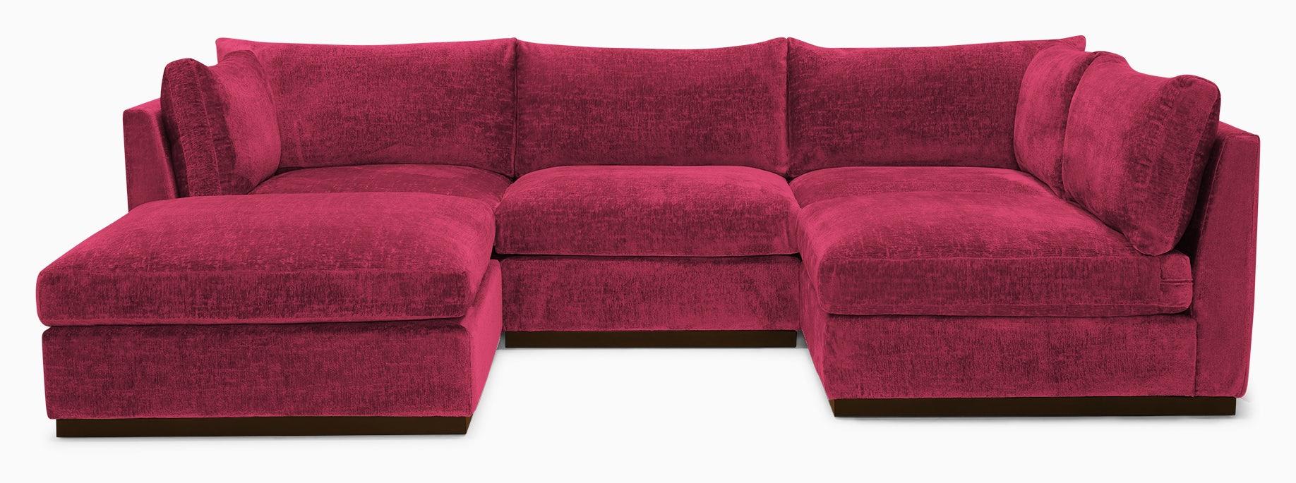holt armless sofa sectional %285 piece%29 key largo bubblegum