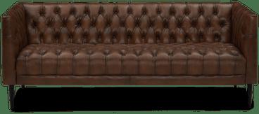 vaughn 76%22 leather sofa palermo coffee