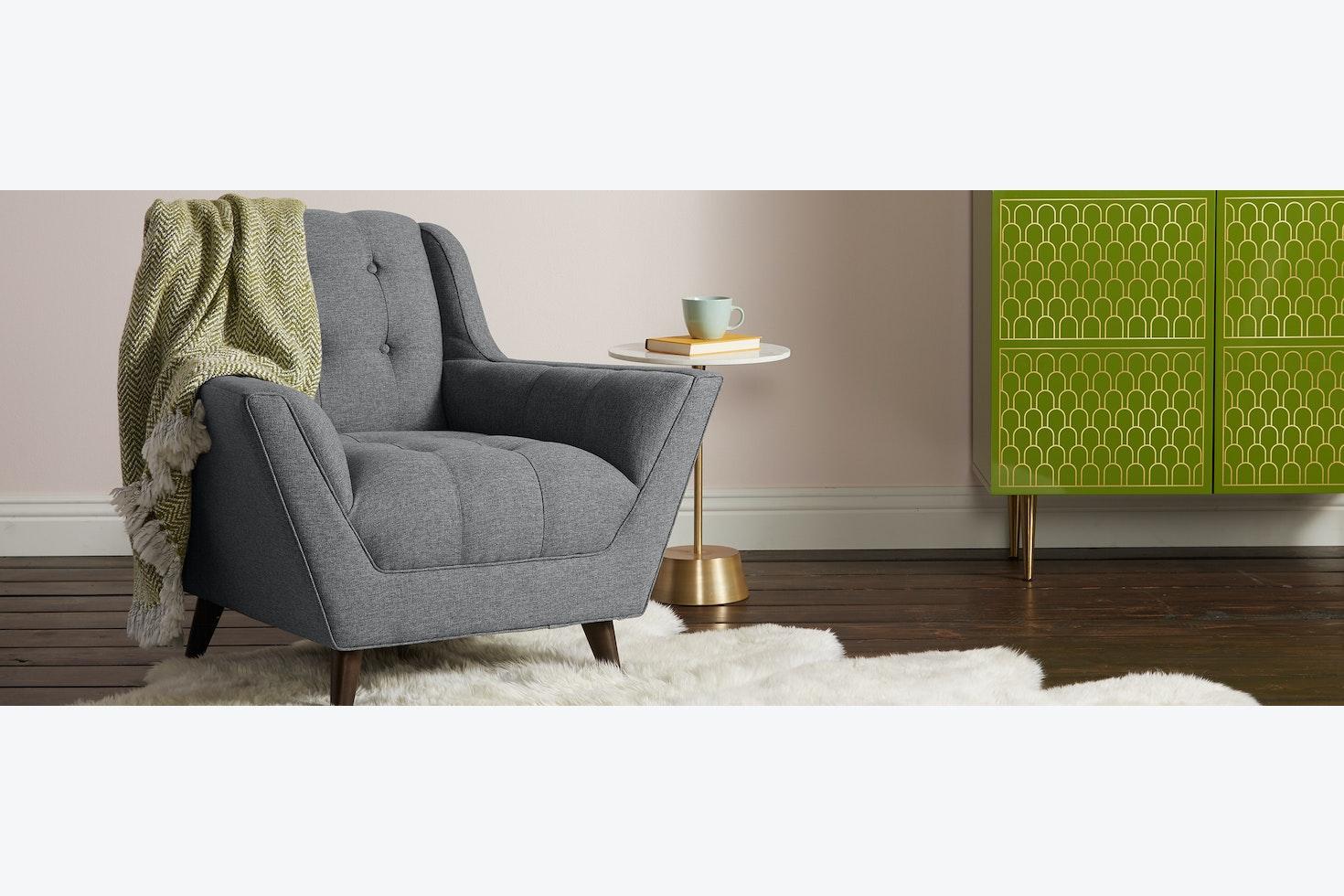Fitzgerald Chair Taylor Felt Grey