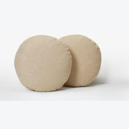 Decorative Round Pillows Key Largo Bisque