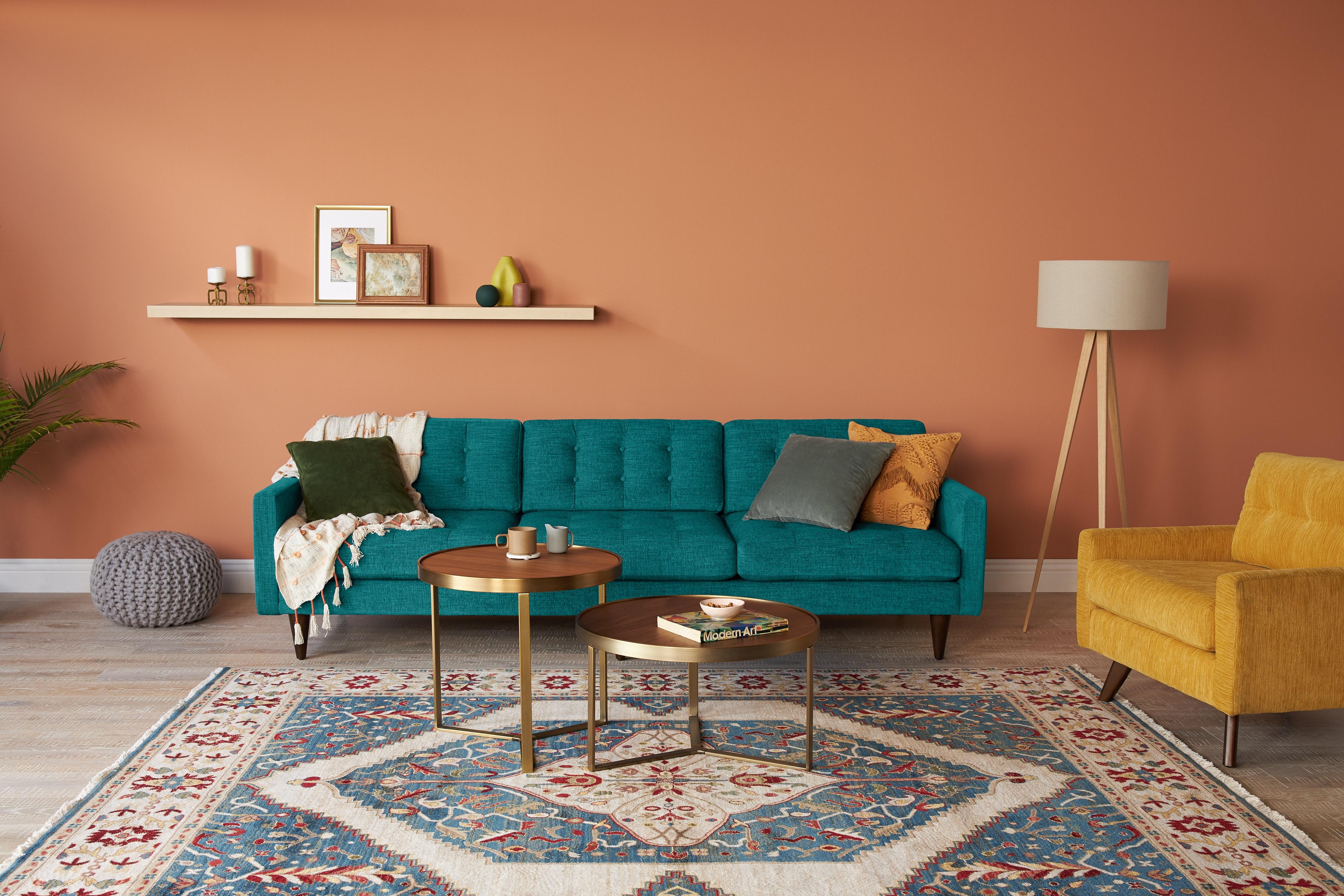 Eliot Grand Sofa Lucky Turquoise