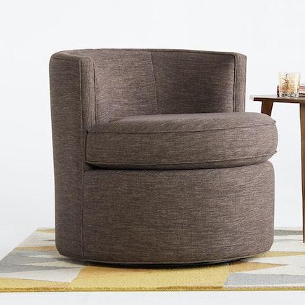 Carly Swivel Chair Key Largo Graphite lastudio hero