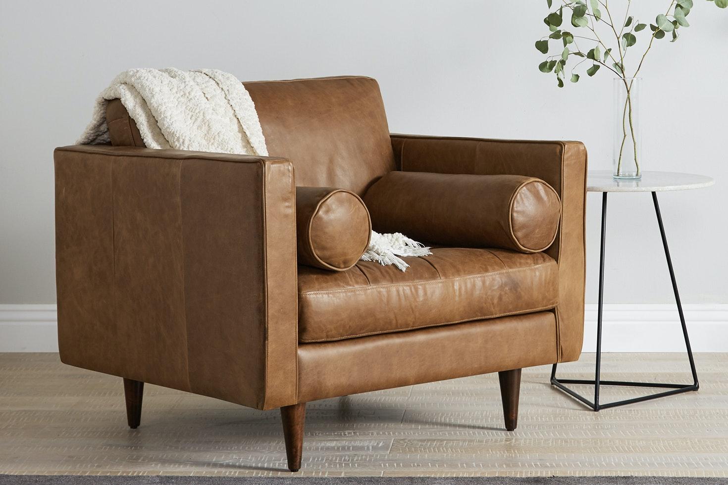 Briar Leather Chair Santiago Ale Flip