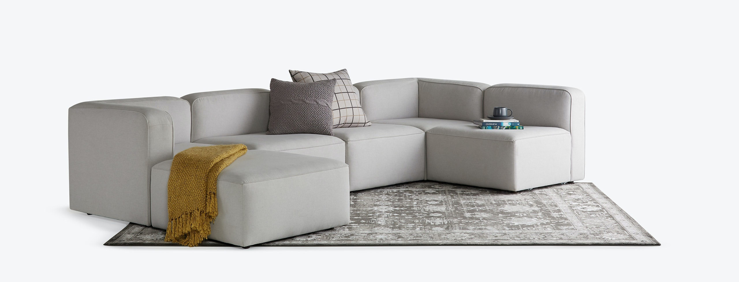 hero logan modular sofa bumper sectional backlog