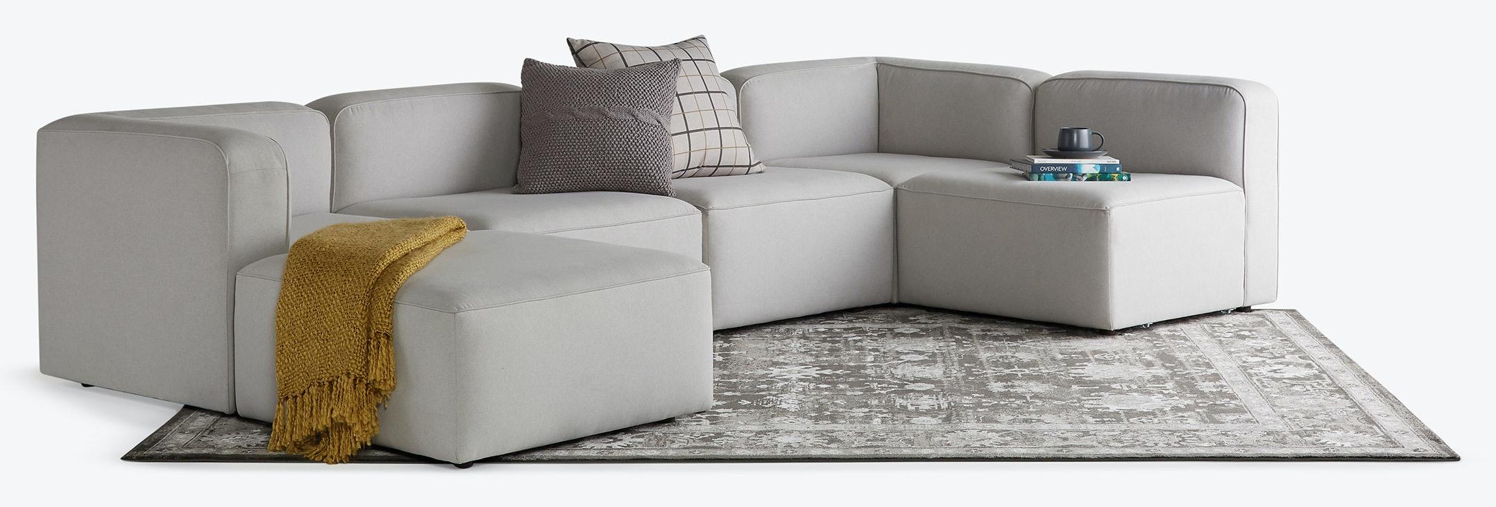 hero logan modular sofa bumper sectional backlog