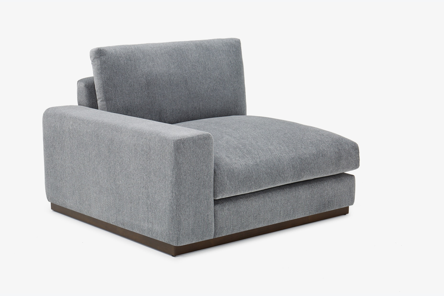 Holt Single Arm Chair Synergy Pewter Left